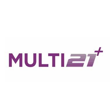 Multi21+ logo