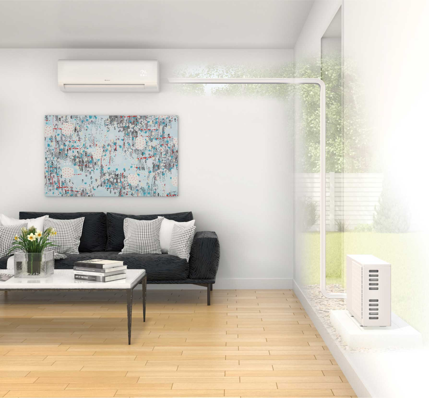 room with mini-split